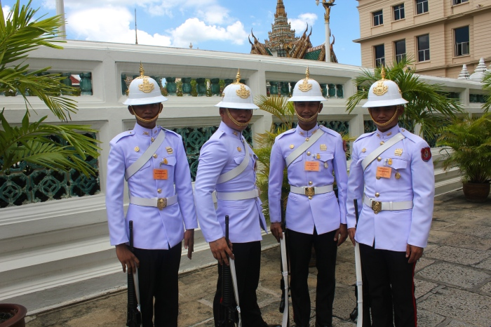 While at the Grand Palace these Imperial Guards were more than happy to pose for a shot! The guy second to the left is totally hamming it up.