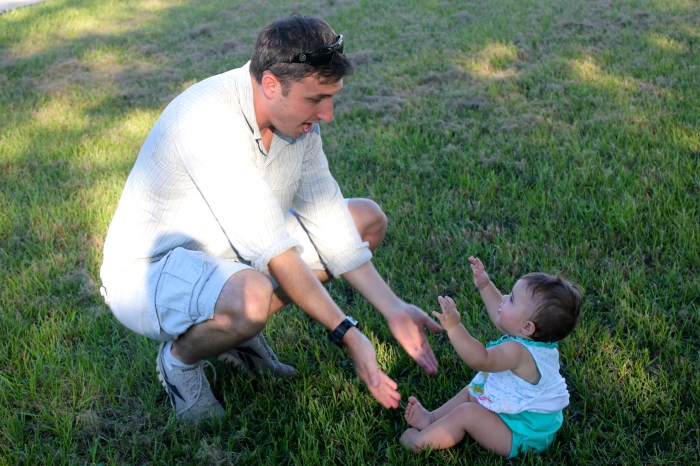 During our rest stop about two hours north of Orlando, we all got out to unwind for a bit. I decided to get some photos of my wonderful brother-in-law John and my niece Penelope. I particularly love how they are both reaching for each other in this photo!