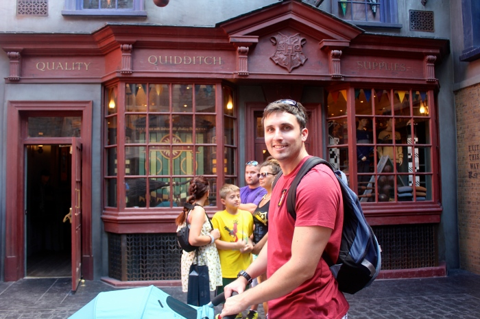 Quality Quidditch Supplies! I only wish we'd had more time at Diagon Alley. There was SO much to see and SO many stores to go in. I really felt like I was in the magical world.