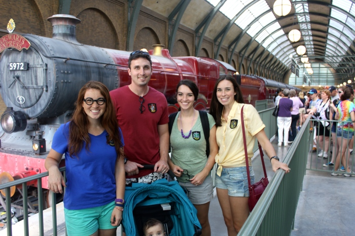 We asked someone in line behind us at Platform 9 3/4 to take a family photo for us. He did a great job...sort of. We only noticed later that Penelope is cut out which is such a shame as she was actually looking at the camera!
