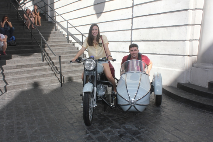 Sirius Black's motorbike was outside Gringotts