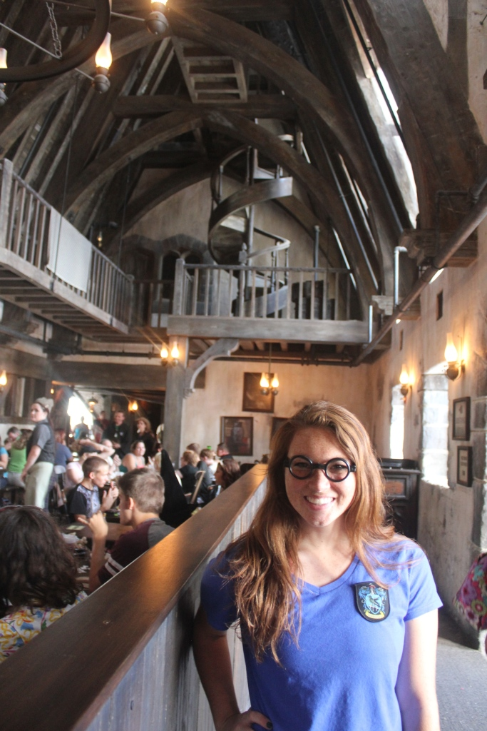 Sarah inside the Three Broomsticks